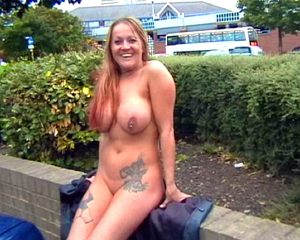 Busty milf Ginas rude flashing